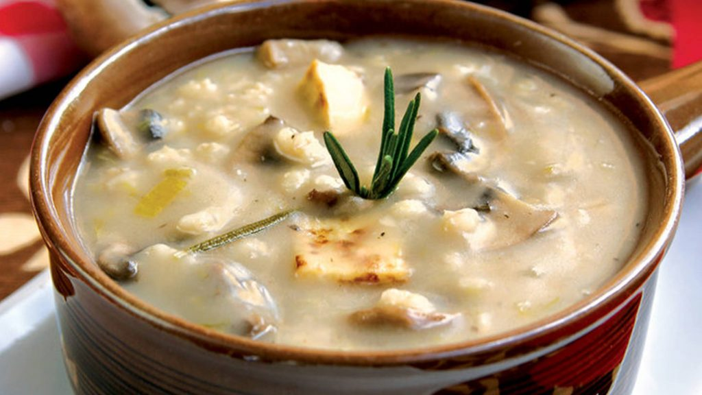 Mighty Mushroom Barley Soup